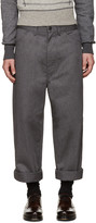 Junya Watanabe Grey Twill Trousers