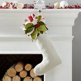 Crate & Barrel Mistletoe Stocking