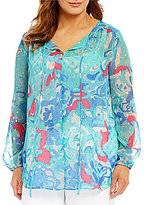 Peter Nygard Plus Chiffon Blouse