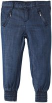 7 For All Mankind Smocked Hem Drapey Pants (Toddler/Kid) - Chambray-2T