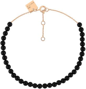 ginette_ny Mini Maria Black Onyx Beaded Bracelet - Rose Gold