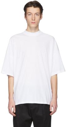 Jil Sander White Mock Neck T-Shirt
