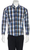 Burberry Plaid Embroidered Shirt
