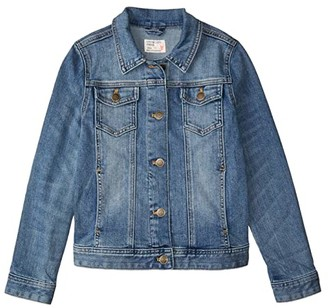 crewcuts by J.Crew Rainbow Patch Denim Jacket (Toddler/Little Kids/Big Kids) (Spring Break) Girl's Clothing