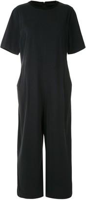 OSKLEN Short-Sleeved Wide-Leg Jumpsuit