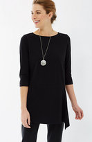 J. Jill Pure Jill Draped-Front Elbow-Sleeve Tunic
