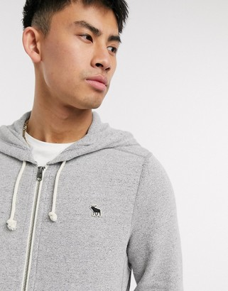 Abercrombie & Fitch logo zip through hoodie