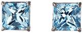 anzie Sterling Silver Carré Blue Topaz Stud Earrings