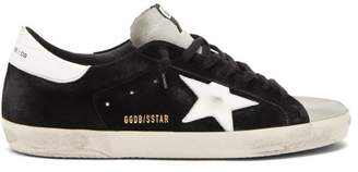 Golden Goose Superstar Suede Trainers - Mens - Black White