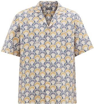 Dolce & Gabbana Shell-print Cotton-blend Shirt - Beige Multi