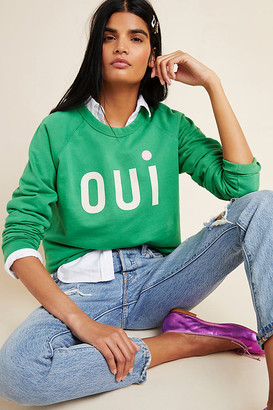 Clare Vivier for Anthropologie Oui Sweatshirt By in Green Size XS
