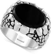 Effy Gento by Men's Onyx Nugget-Look Ring (5-3/8 ct. t.w.) in Sterling Silver