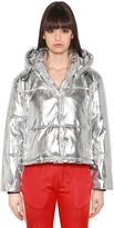 MSGM Quilted Lamé Puffer Jacket