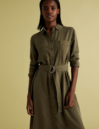 Marks and Spencer Belted Midi Shirt Dress