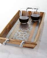 GG Collection G G Collection Wood Tray with Metal Inlay