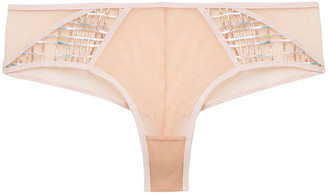 Maison Lejaby Embroidered Tulle Mid-rise Briefs