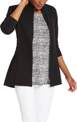 Nic+Zoe The Perfect Zip Front Knit Jacket