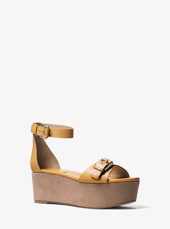 Michael Kors Jolie Leather Flatform Sandal