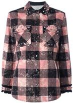Coach checked studded shirt jacket