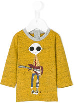 Little Marc Jacobs guitar print longsleeved T-shirt