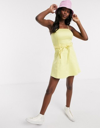 The East Order yellow mini dress