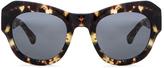 Dries Van Noten Angular Sunglasses in Darl Shell