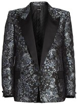 Givenchy Single-Breasted Floral Jacquard Jacket