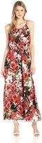 Sangria DBFX876 Floral Printed Jersey A-line Dress
