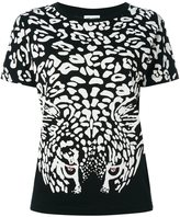 Saint Laurent leopard print T-shirt - women - Cotton/Metal (Other) - XS