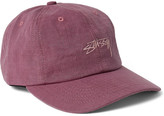 StÃ1⁄4ssy - Embroidered Cotton-ripstop Baseball Cap - Pink