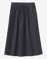 Toast Denim Gathered Waist Tie Skirt