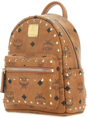 MCM Stark Stud-Embellished Backpack