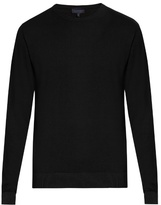 Lanvin Crew-neck Wool And Cotton-blend Sweater