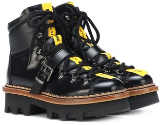 MONCLER GRENOBLE Amboise leather ankle boots