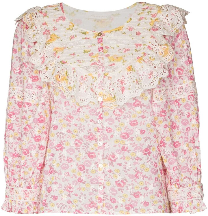 LoveShackFancy Canna floral-print top