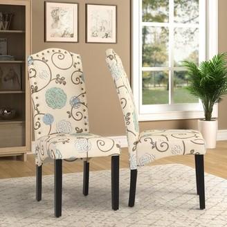 Red Barrel Studioâ® Linen Upholstered Parsons Chair in Beige Red Barrel StudioA