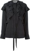 Givenchy pinstripe ruffle shirt - women - Silk - 40