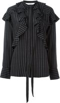 Givenchy pinstripe ruffle shirt - women - Silk - 42