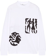 Toga Printed Cotton-jersey Top - White