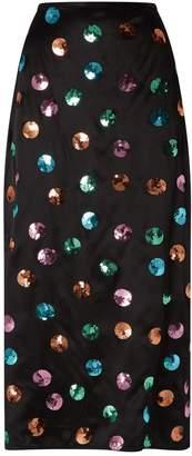 Rixo Kelly Sequin-Embellished Midi Skirt