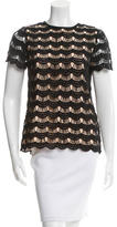 Kate Spade Crocheted Keyhole-Accented Top