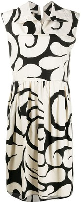 Marni Baroque Print Sleeveless Midi-Dress