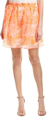 Maje Embroidered Mini Skirt