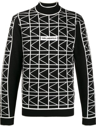 Karl Lagerfeld Paris Jacquard Knit Jumper
