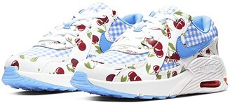 Nike Kids Air Max Excee (Little Kid) (White/University Blue/Track Red) Girls Shoes