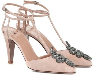 Valentino embellished suede pumps