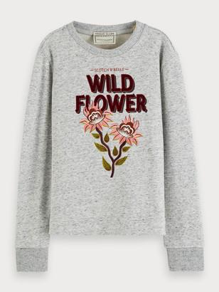 Scotch & Soda Crew neck sweatshirt with combination artwork   Girls