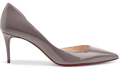 Christian Louboutin Iriza 70 Patent-leather Pumps - Gray