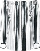 Polo Ralph Lauren off-the-shoulder stripe blouse - women - Cotton - M