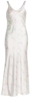 Alejandra Alonso Rojas Print Silk Slip Dress